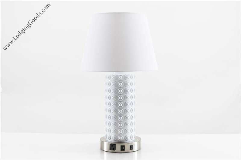 Ceramic White Table Lamp