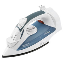 Sunbeam GreenSense SteamMaster Full Size Professional Iron with Retractable Cord and ClearView, White 004274-200-000