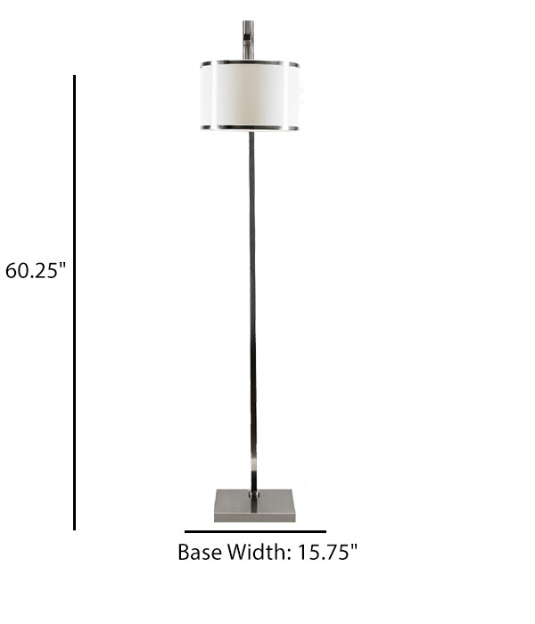 Floor Lamp with Acrylic Shade