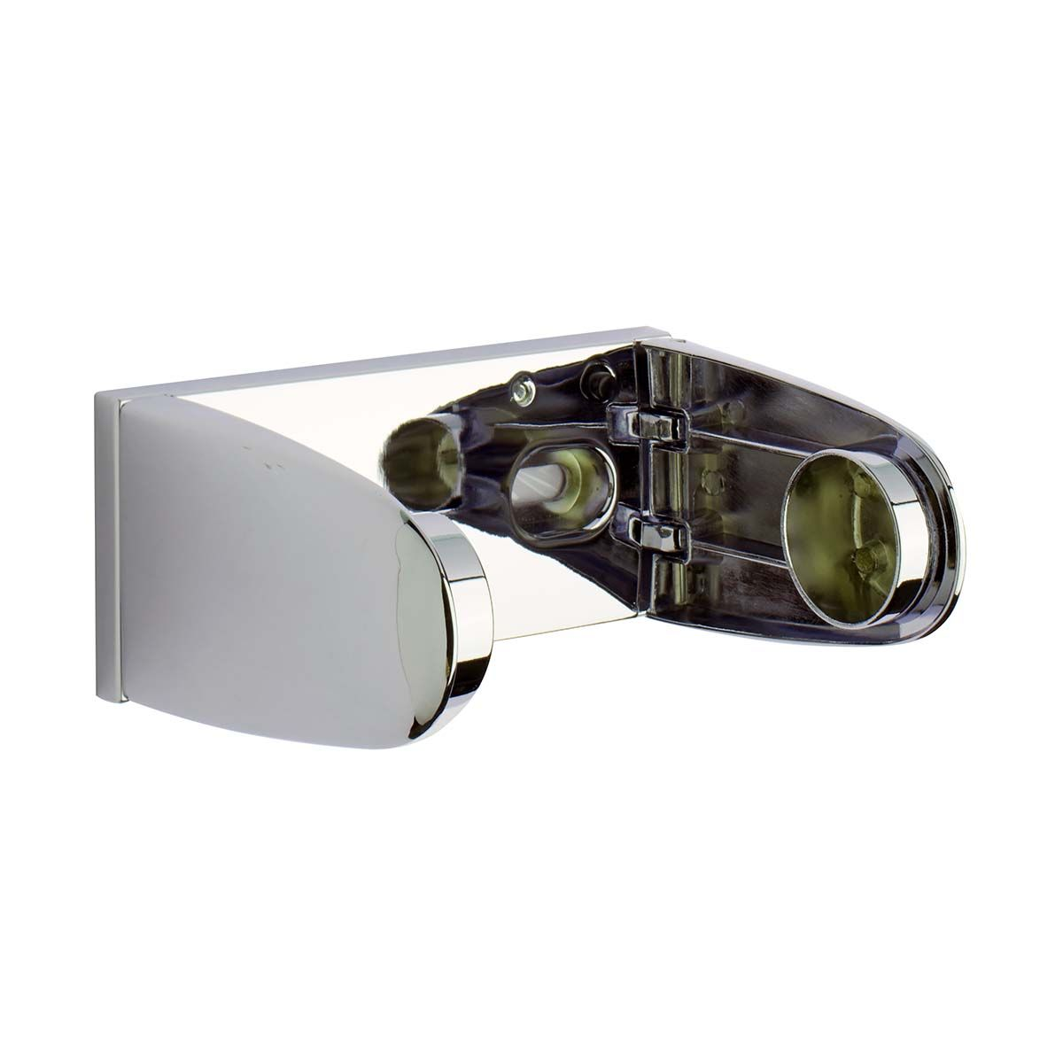 Surface Mount Deluxe Single Paper Roll Holder - Polished Chrome Plated Zamac