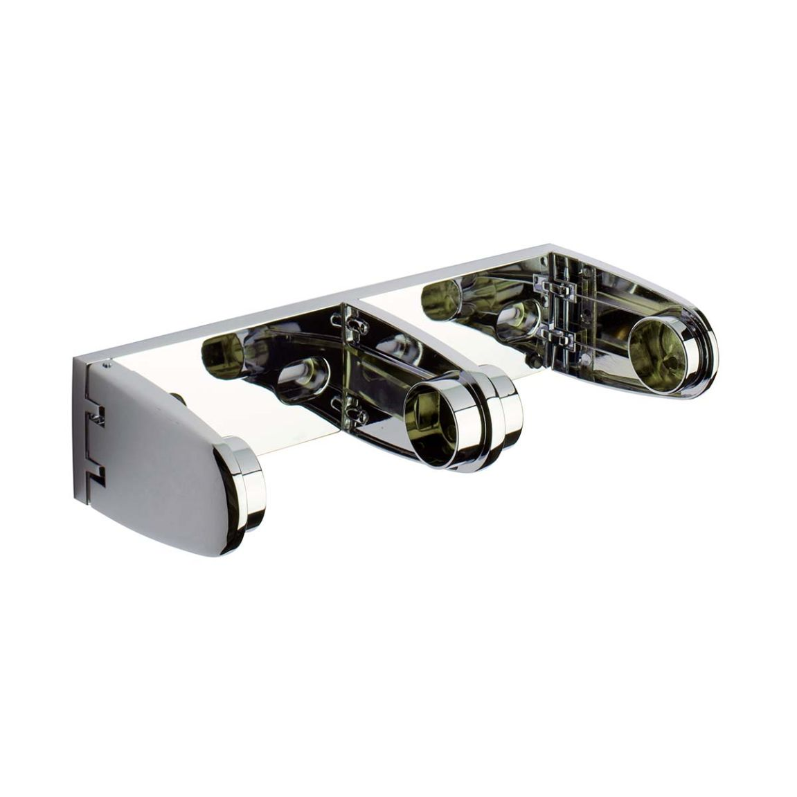 Surface Mount Deluxe Double Paper Roll Holder - Polished Chrome Plated Zamac