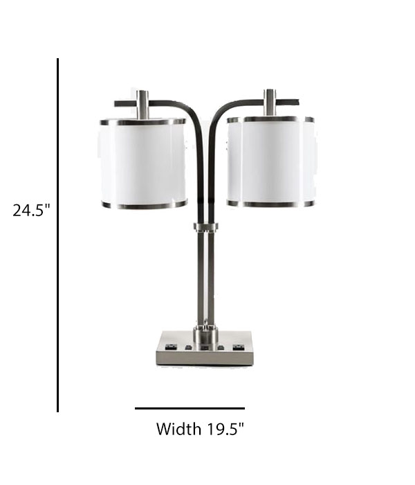 Double Desk Lamp with Acrylic Shade