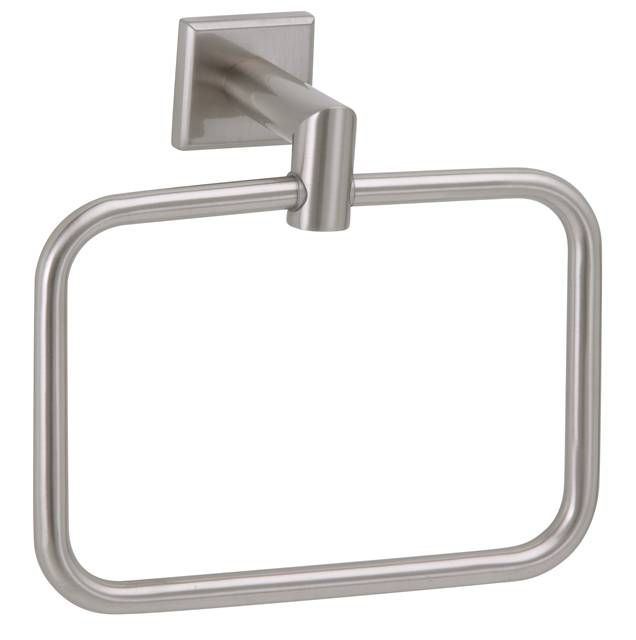 NAPLES Towel Ring — Satin Nickel