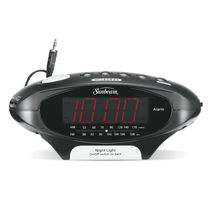 Sunbeam MP3 Ready AM/FM Alarm Clock Radio, Black  089020-000