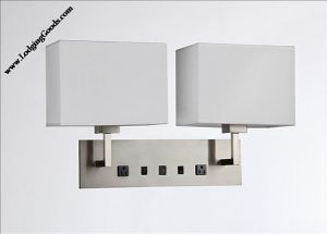 Wall Lamp with 2 elec/ 1 USB