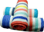 Pool Towels - Color Candy Stripe
