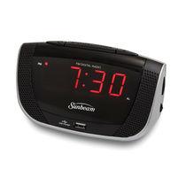 Sunbeam Clock Radio with Daily Alarm Reset and USB