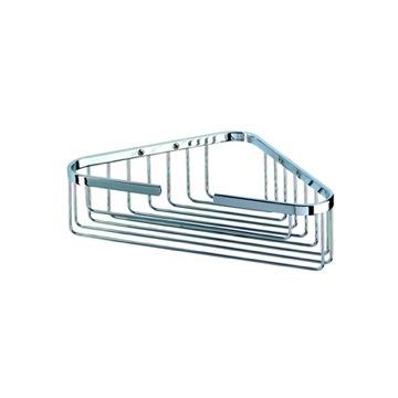 2 Tier Corner Medium Basket - Polished Chrome