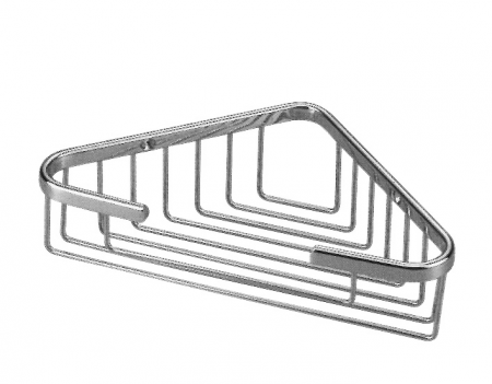 Large Corner Basket - Polished Chrome
