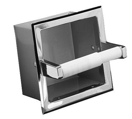 Recessed Extra Paper Roll Holder - Satin Nickel