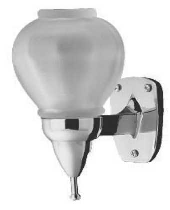Surface Mount Liquid Soap Dispenser - Polished Chrome Fixture With Translucent Unbreakable Poly Globe