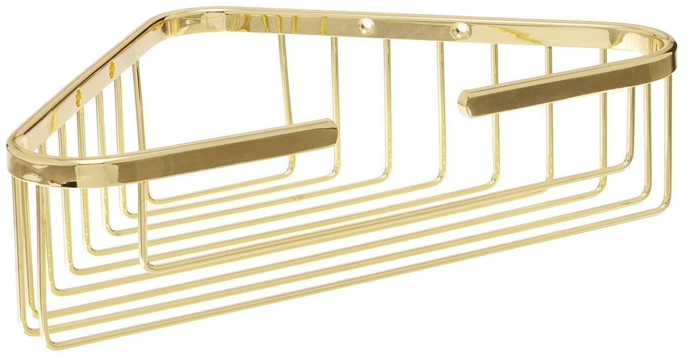 2 Tier Corner Medium Basket - Polished Brass