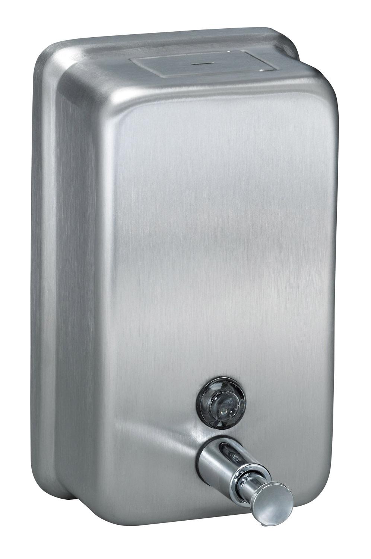 Surface Mount Vertical Liquid Soap Dispenser - Stainless Steel