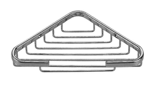 Small Corner Basket - Satin Nickel