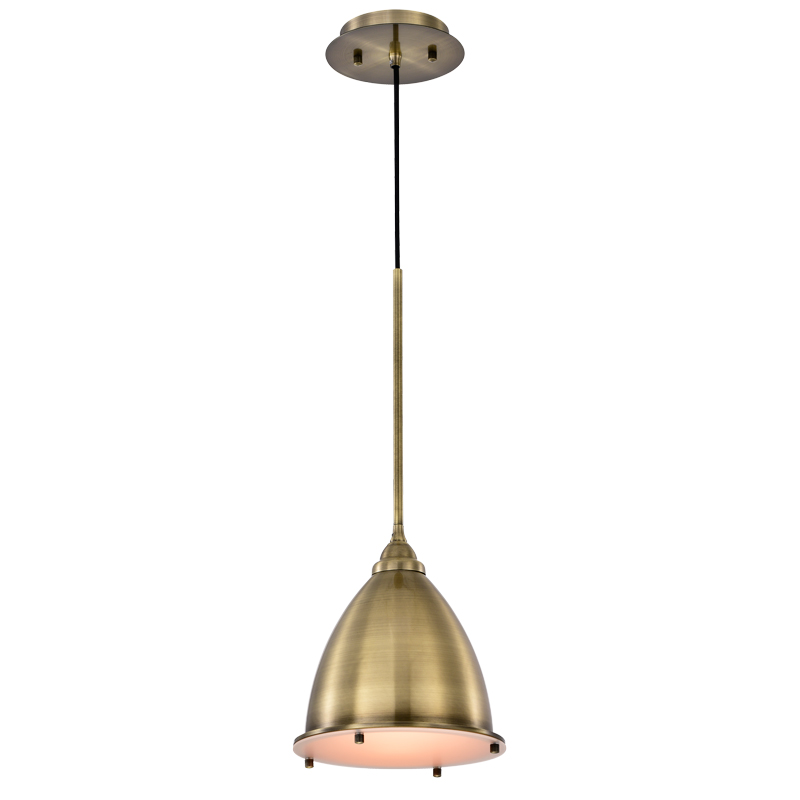 Mini Pendant Die formed Cold rolled Steel Frosted Glass Diffuser