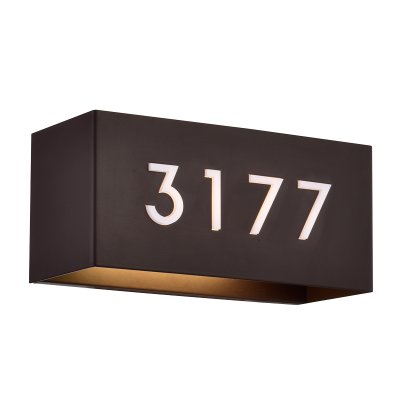 Address Lights Fixture with Room Numbers is Custom Made for Each Room