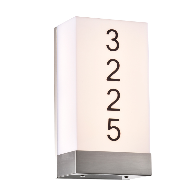 Address Lights Fixture with Room Numbers is Custom Made for Each Room ADA Complaint