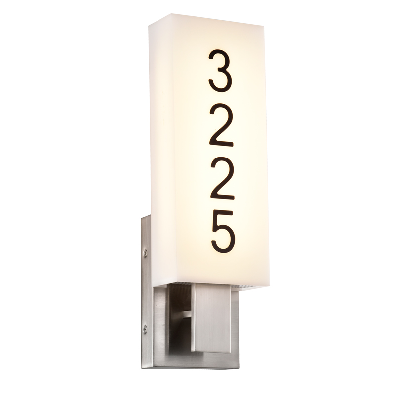 Address Lights Fixture with Room Numbers is Custom Made for Each Room Oil Rubbed Bronze