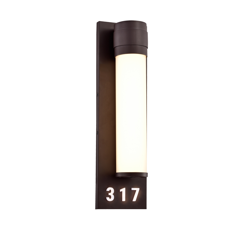 Address Lights Fixture with Room Numbers is Custom Made for Each Room Oil Rubbed Bronze Black