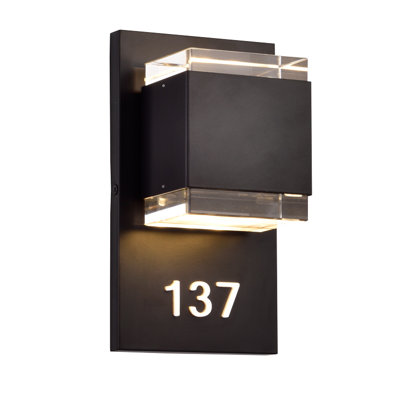 Address Lights Fixture with Room Numbers is Custom Made for Each Room 2868615