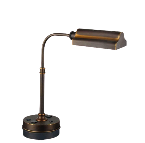 Desk Lamp with 2 Elec/1 USB
