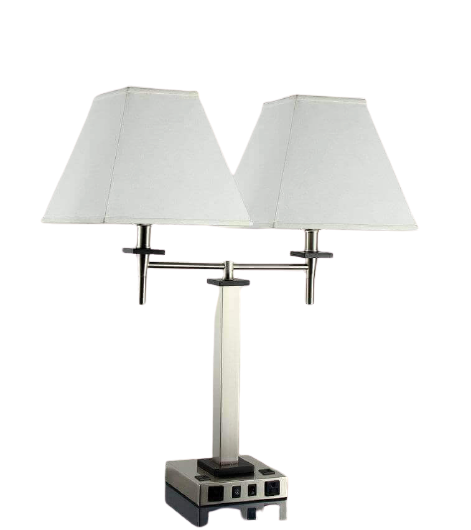 Desk Lamp with 2 Elec/ 2 USBs