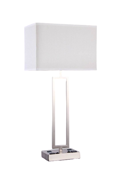 Desk Lamp with 2 Elec/USBs