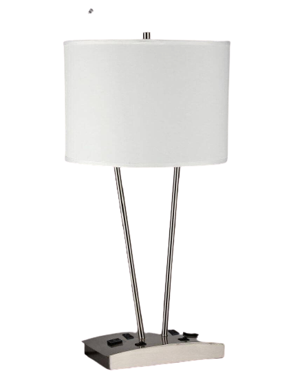 Desk Lamp with 2 Elec/2 USBs