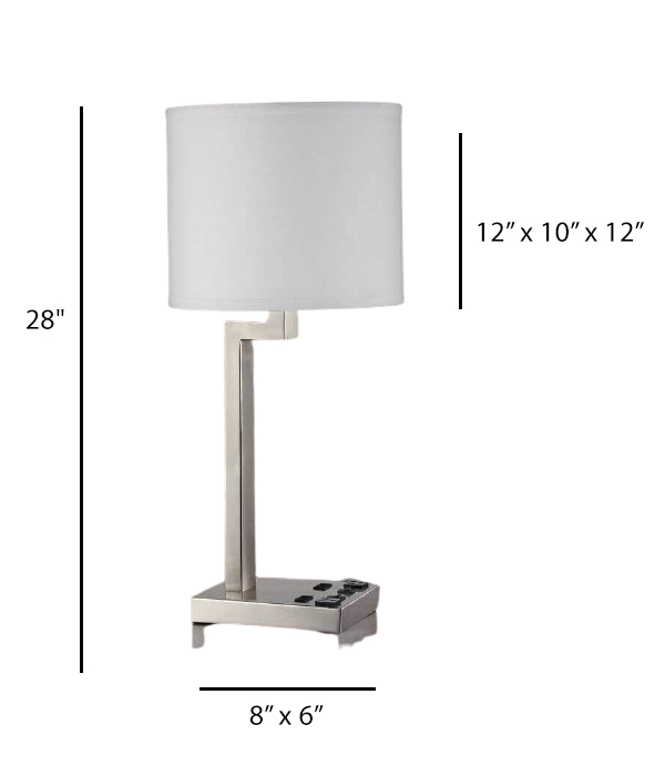 Double Table Lamp with 2 Elec/USBs