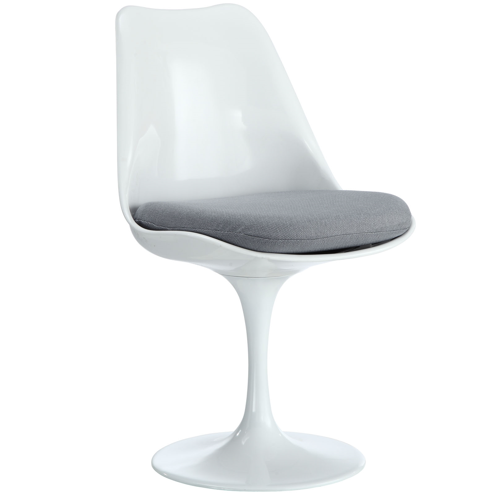 Lippa Dining Fabric Side Chair in Gray
