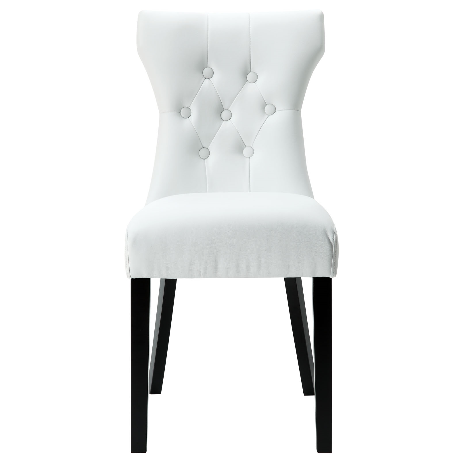 Silhouette Dining Vinyl Side Chair in White