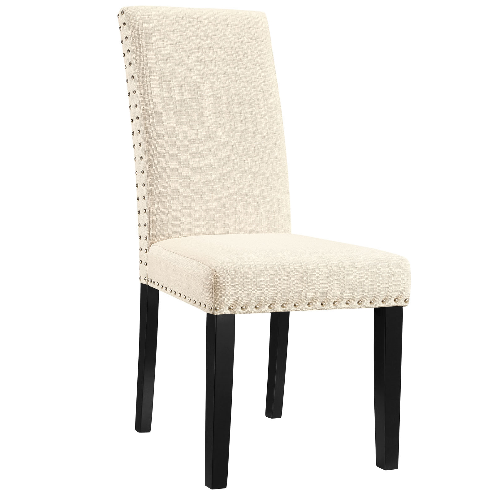 Parcel Dining Upholstered Fabric Side Chair in Beige