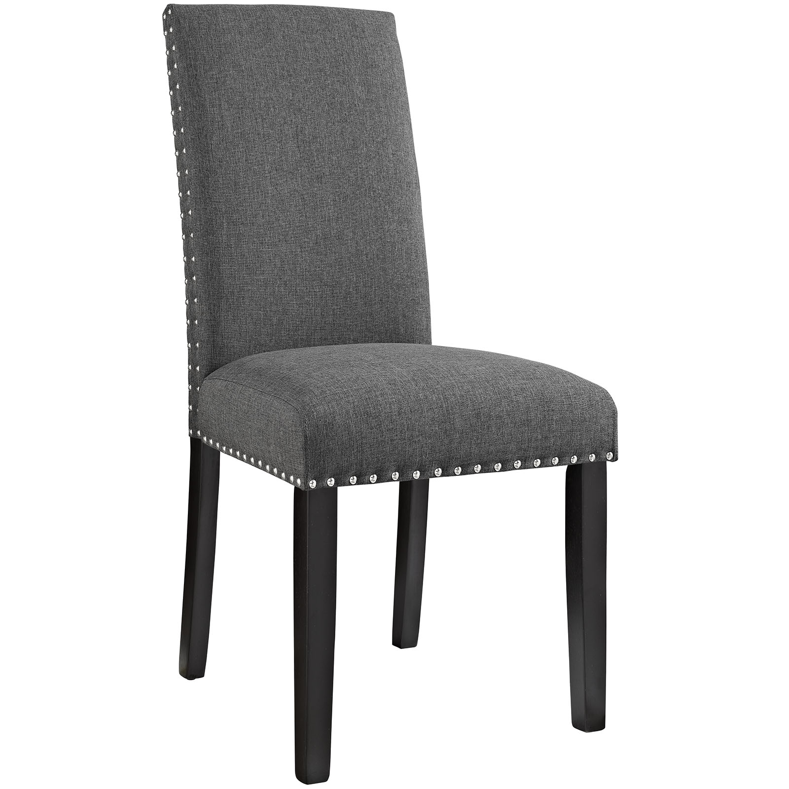 Parcel Dining Upholstered Fabric Side Chair in Gray