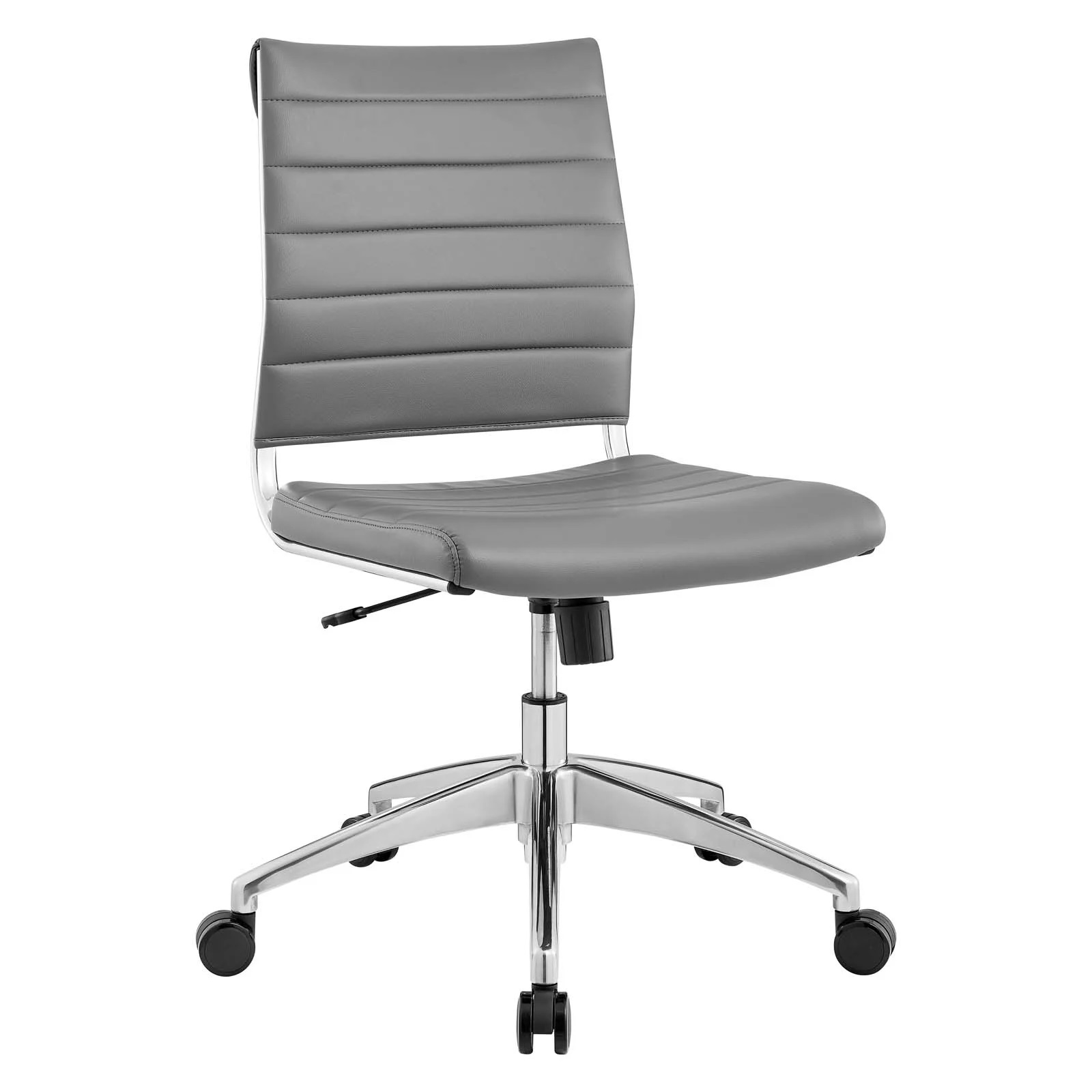 Armless Mid Back Office Chair in Gray