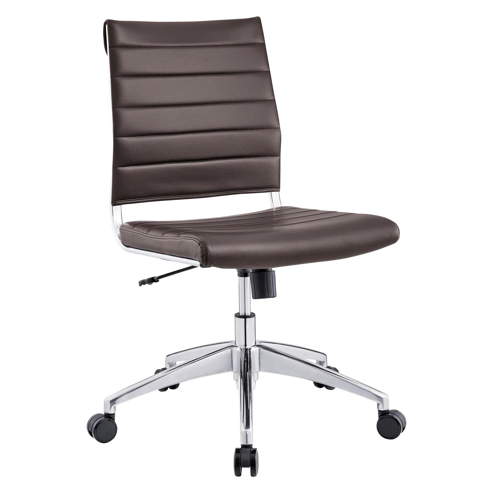Armless-Mid-Back-Office-Chair-in-Brown