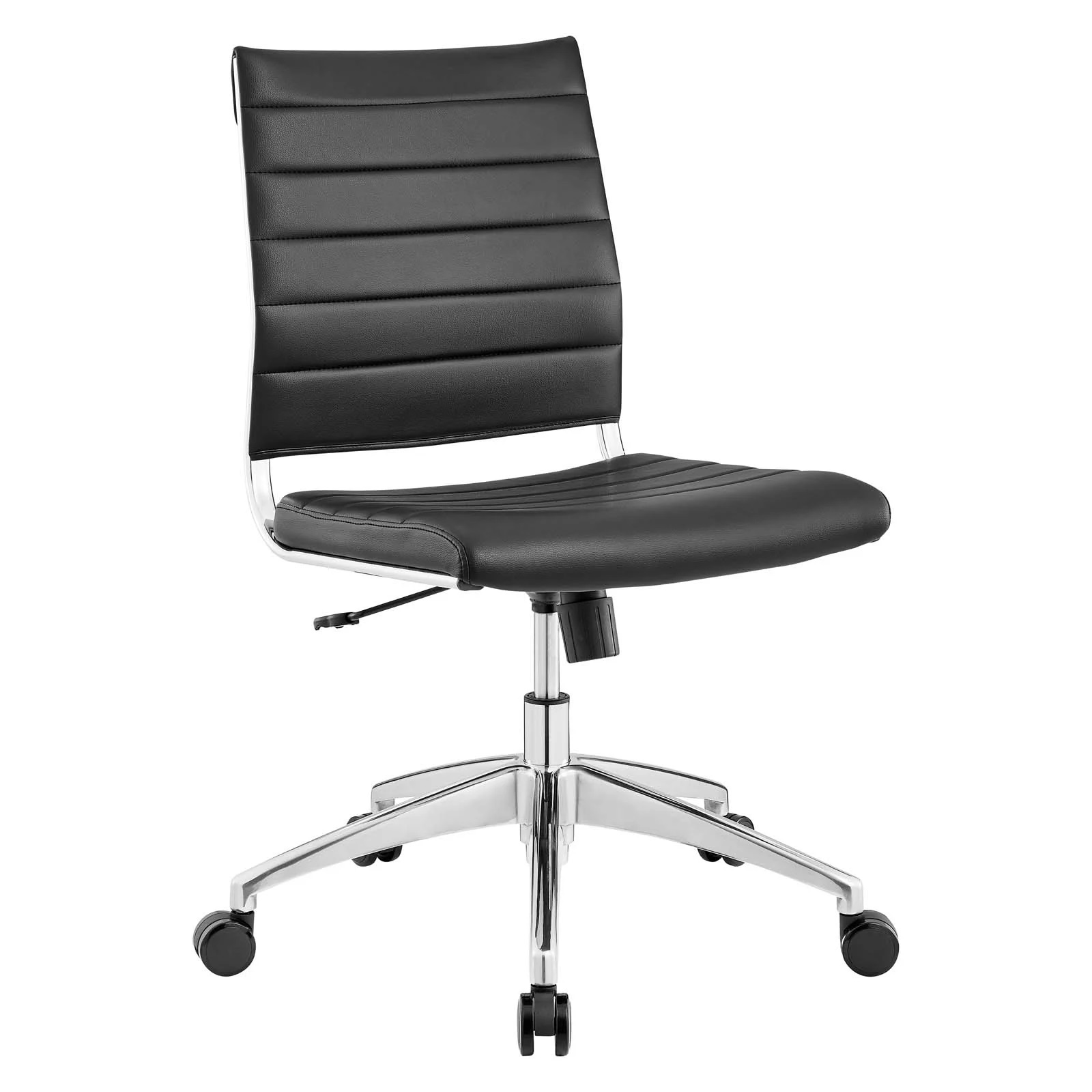 Armless Mid Back Office Chair in Black
