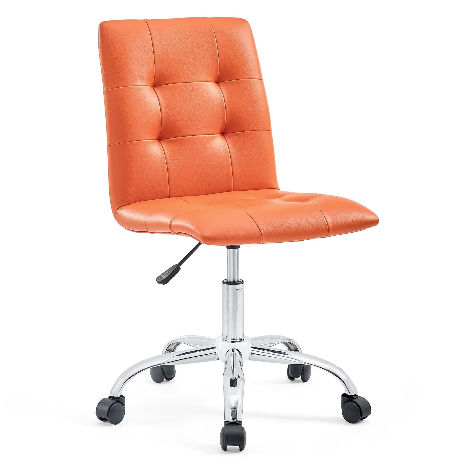 Armless Mid Back Office Chair in Orange