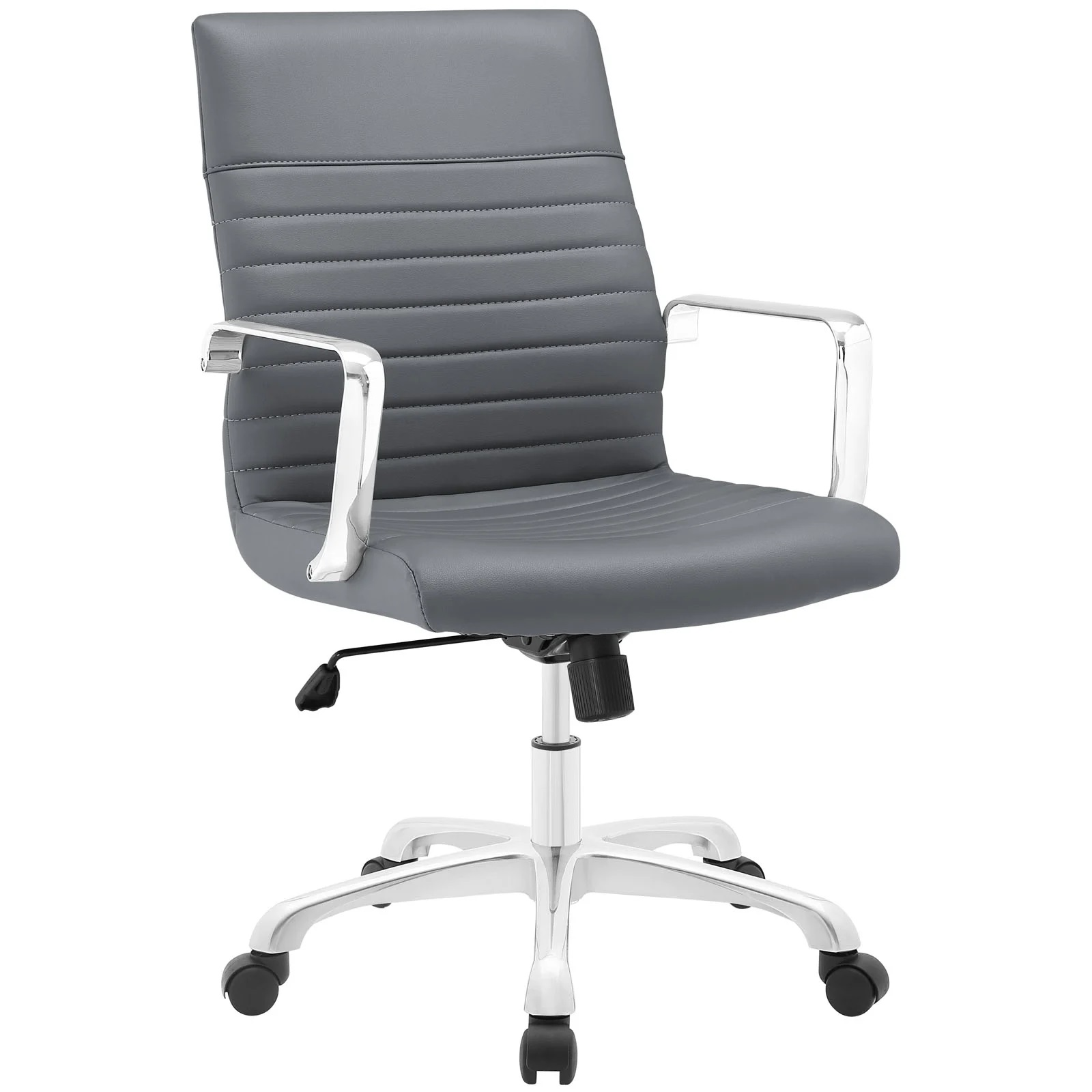 Mid Back Office Chair in Gray