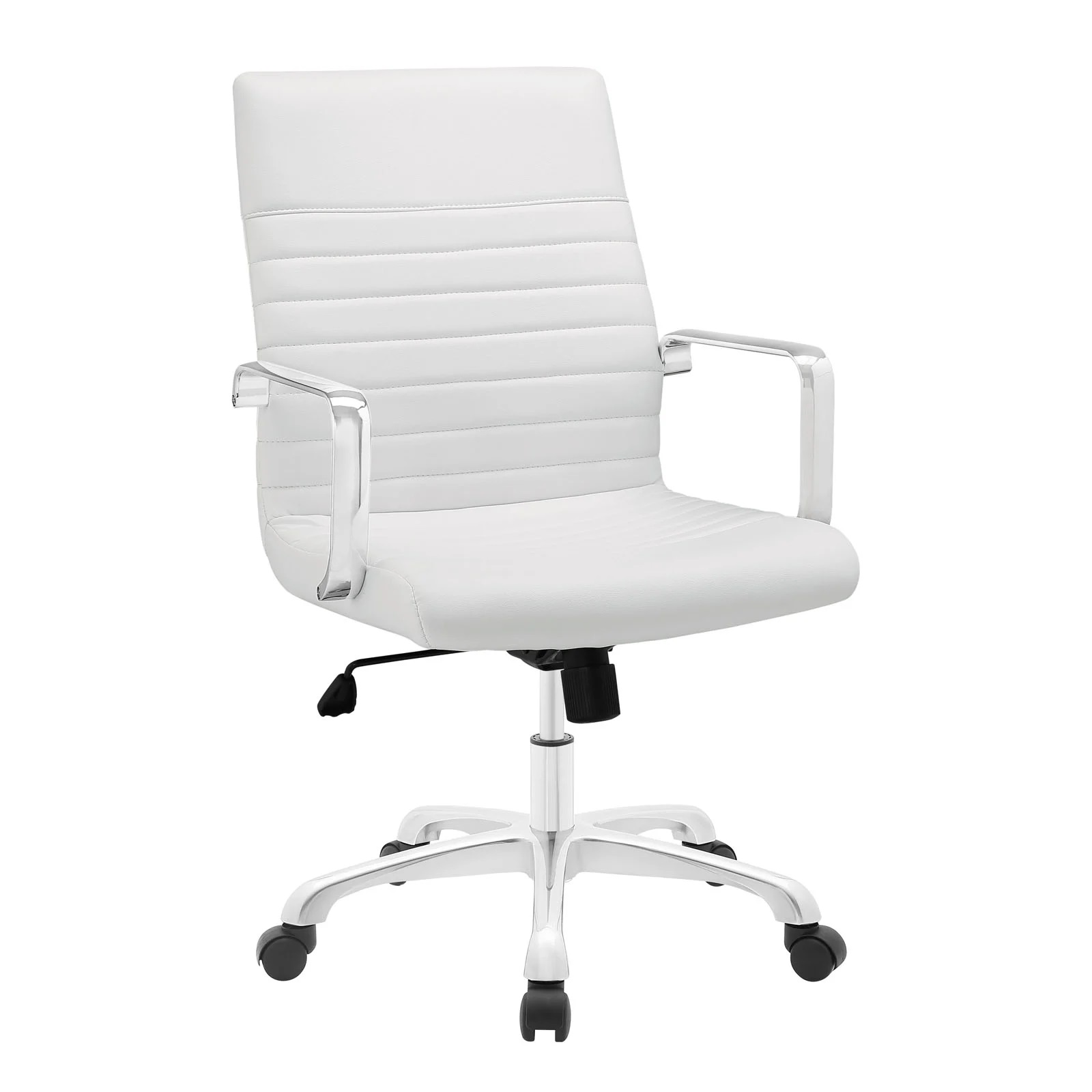 Mid Back Office Chair in White