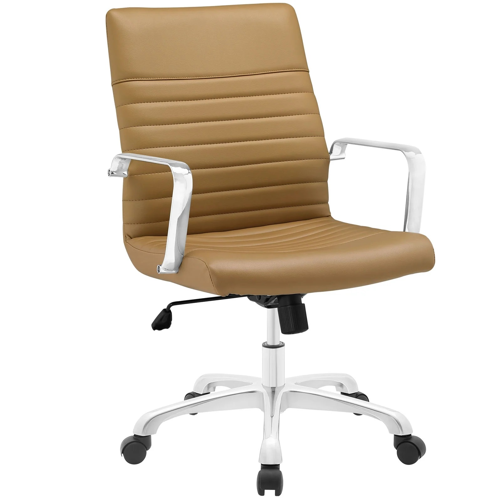 Mid Back Office Chair in Tan
