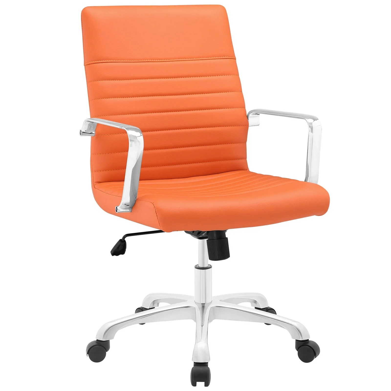 Mid Back Office Chair in Orange