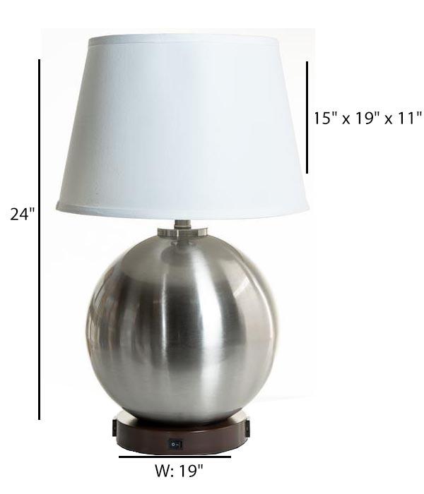 Desk Lamp with 2 Elec