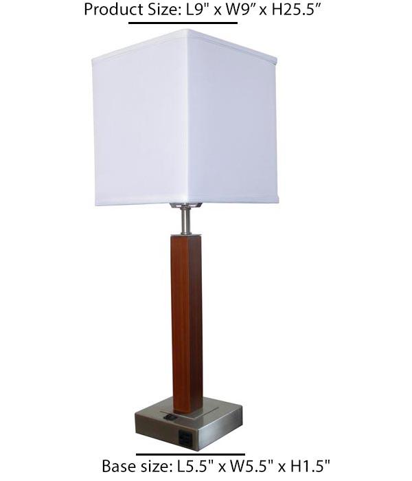 Floor Lamp Wood veneer with metal