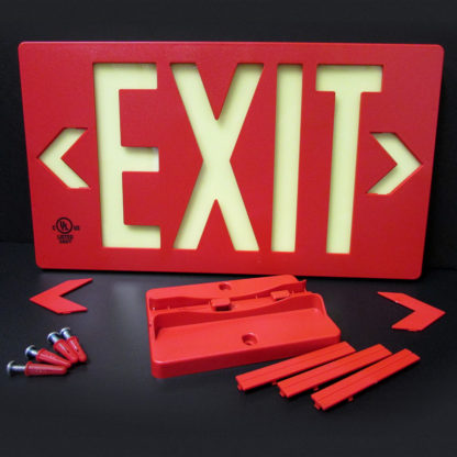 100-foot LED Activation EXIT sign, red