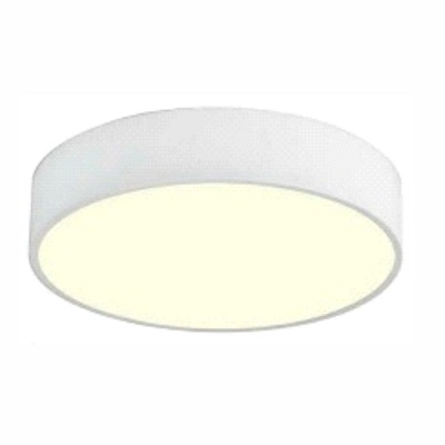 """Indoor Ceiling Fixture ø 11.8X4"""" for MPLR, PMMA diffuser(21457-MN-BP6) White"""