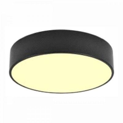 "Indoor Ceiling Fixture ø 11.8X4"" for MPLR, PMMA diffuser(21457-MN-BP6) Black"