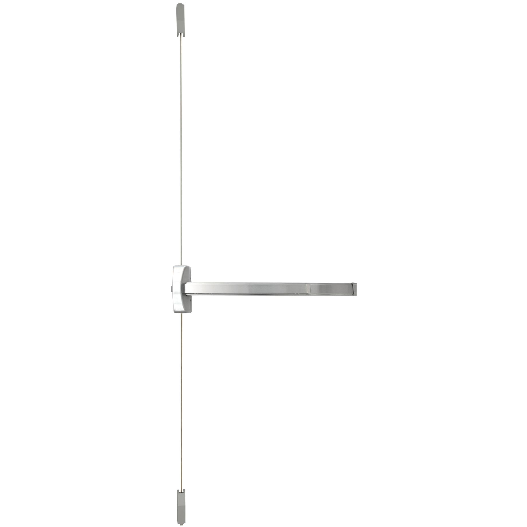 9700 SERIES Vertical Rod Push Bar — Stainless Steel