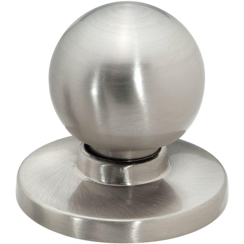 PEDESTAL - WITH REMOVABLE BACKPLATE Bi-Fold/Cabinet Knob — Satin Nickel