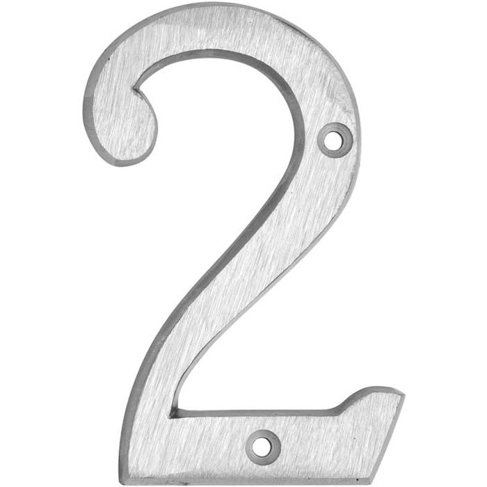 HOUSE NUMBERS, CLASSIC House Numbers — Brushed Aluminum-2