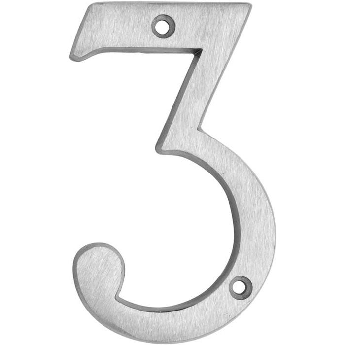 HOUSE NUMBERS, CLASSIC House Numbers — Brushed Aluminum-3